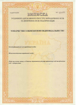 выписка о государственной регистрации -образец